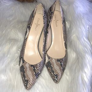 Cole Haan Snakeskin Pointy pumps size 7B